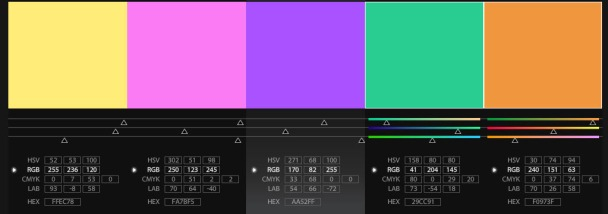 Screenshot of color scheme inspired by Miami