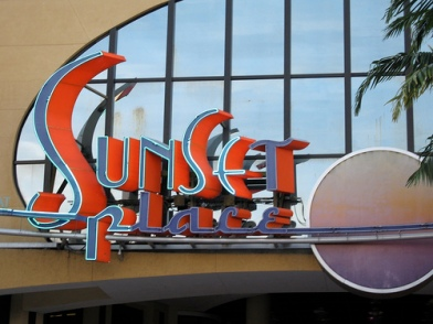 Image of Signage for Sunset Place in Miami