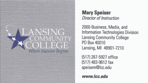 Color stephanie evergreens blog business card from lansing community college reheart Choice Image